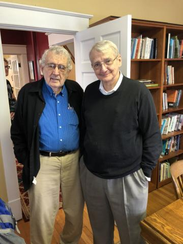 Former Director Herbert Reid with Scholar-in-Residence Gurney Norman